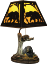 Bear Lamp w/Metal Shade (SKU: 487)