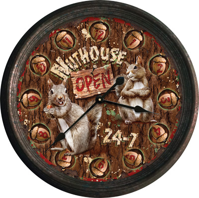 "15"" Rusted Nut House Clock"
