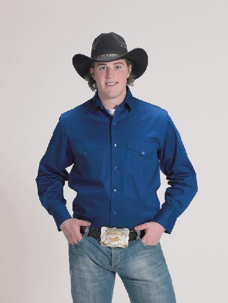Mens Western Shirt Royal 800