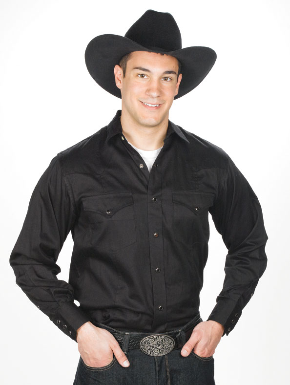Mens Western Shirt Black 800