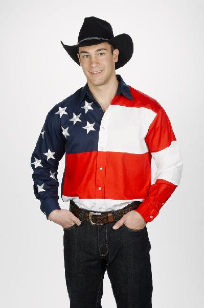 Mens Western Stars and Stripes