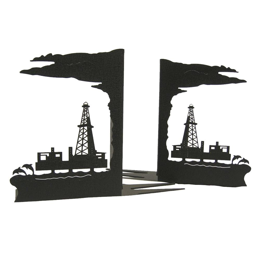 Offshore Oil Rig Bookends