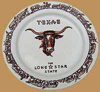 Texas Longhorn Dinner Plate Limited