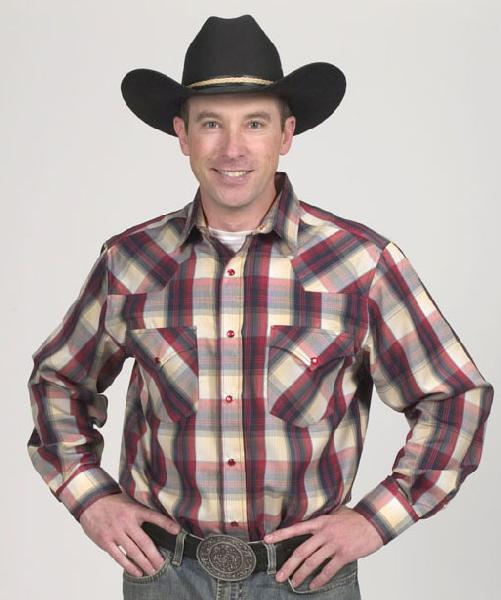 Mens Western Red Plaid 450