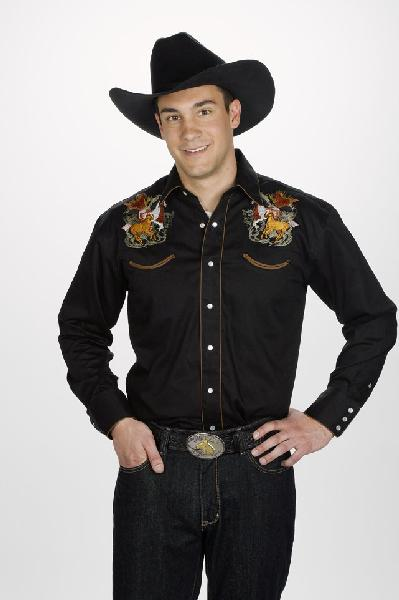 Mens Western Horse Embroidery