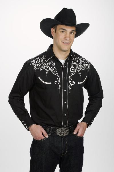 Mens Western Leaf Black 730