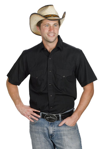 Mens Western Shirt Black 766