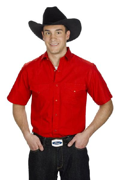 Mens Western Shirt Red 766