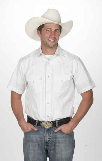 Mens Western White Shirt 766