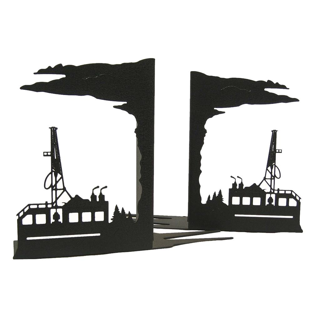 Oil Rig Bookends