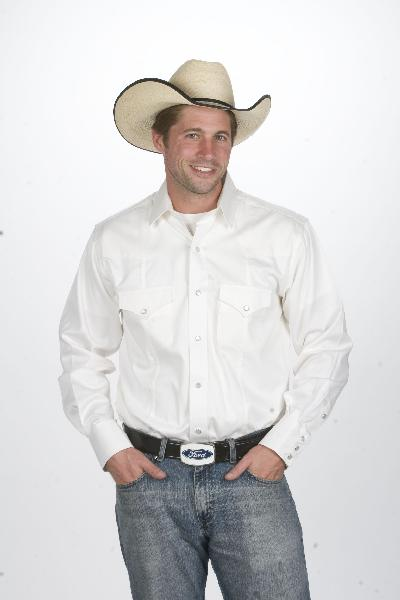 Mens Western Shirt White 800