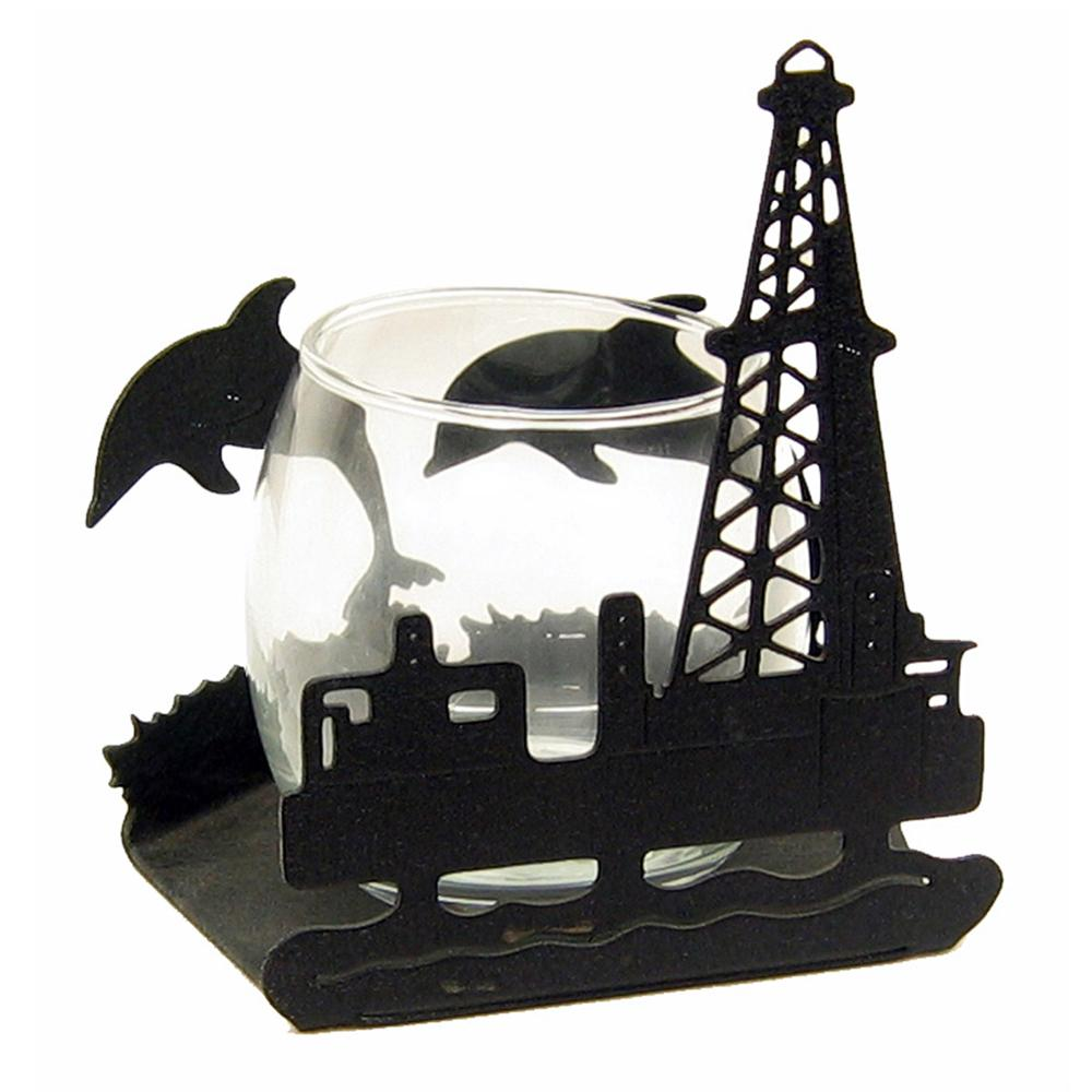 Offshore Oil Rig CandleWrap