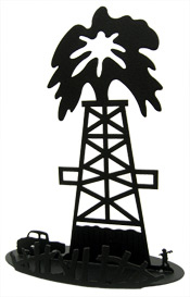 Oil Derrick and Truck Centerpiece