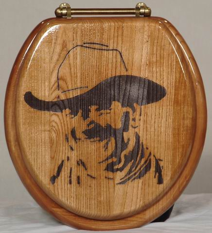 """Whoa take'r easy there Pilgrim""--John Wayne Toilet Seat"