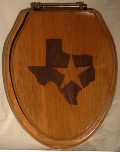 """Everythings Bigger in Texas!"" Toilet Seat"
