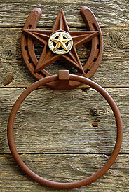 Longhorn w/Berries Towel Ring (Star Concho Collection)