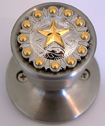 Star w/Gold Berries (Non-Lockable) Door Knobs