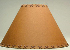 "Laced Oil Kraft 14"" Lamp Shade"
