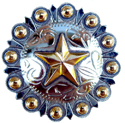 "Star w/Gold Berries - 1 1/2"" (Drawer Pulls)"