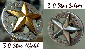 3-D Star Pull w/Gold  Outlay    (Drawer Pulls)
