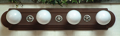 "Race Track Vanity Light 24""  (Four Lights)  (3-D Star-Silver)"