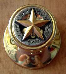 3-D Gold Star -Gold Door Knob (Non-Lockable)