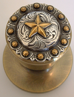 Star Berry - Antique brass Door Knob (Non -Lockable)