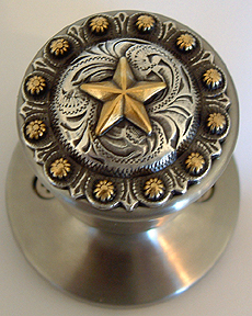Star berry Satin Silver Knob -   (Lockable) Door Knob