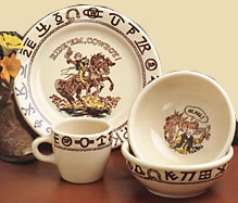 Three Piece Set in Gift Box (Little Buckaroo China)