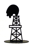 Oil Derrick Standing Silhouette