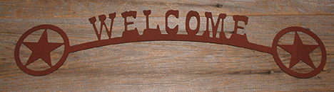 Welcome Cut Out (Metal Art) New Item