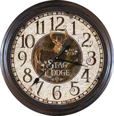 "26"" Stag Lodge Clock"