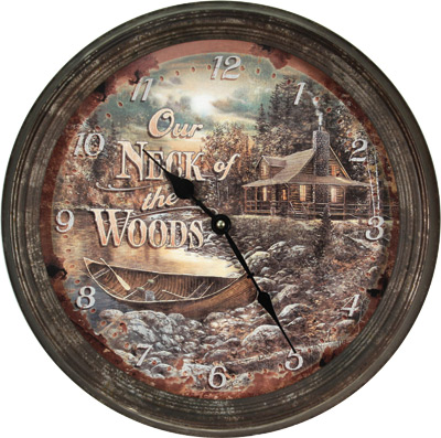 Rusted Neck of Woods Clock
