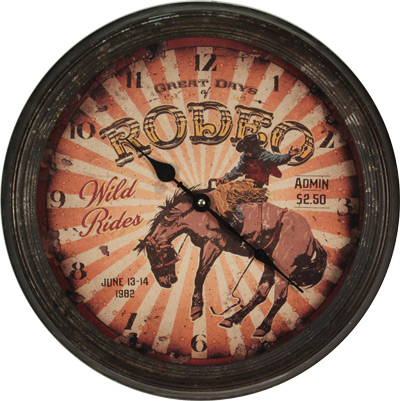 Rusted Rodeo Horse Clock
