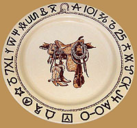 Boots & Saddle Dinner Plate