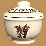 Boots & Saddle Sugar Bowl with Lid