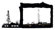 Oil Rig Picture Frame