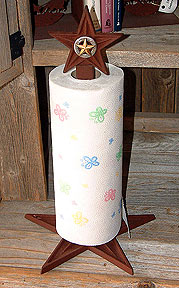 Standing Paper towel Holder w/ 3-D Star Gold ( Shown)