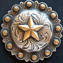 Star Berry - Antique Brass & Silver  (Drawer Pull)