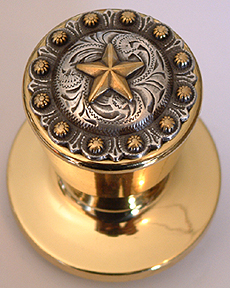 Star Berry - Gold Knob -(LOCKABLE)  Door Knob