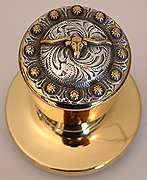 Steer Berry - Gold Knob- (Lockable) Door Knob