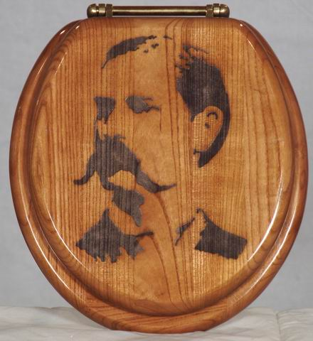 """Take Your Time, But Do It Quickly!"" Wyatt Earp Toilet Seat"
