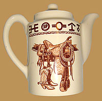 Boots & Saddle Tea Pot/ Coffee Server