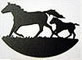 "Mare and Foal Towel Bar 18"" (Event Collection)"