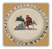 Christmas Cowboy Round Serving Platter 14""