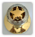 Gold Star w/Etching -Gold Knob  (Door Knobs) Non-Lockable (SKU: KB-462-G_S)