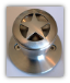 Ranger Star -Satin Silver Knob  (Non-Lockable) (SKU: KB-534-05)