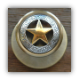 Antique Gold Star w/Etching - S. Silver Knob   (Non- Lockable) (SKU: KB-462-GP1-SS)