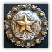 Star Berry - Antique Brass & Silver  (Drawer Pull) (SKU: P-797)