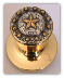 Star Berry - Gold Knob -(LOCKABLE)  Door Knob (SKU: KBL-797-G)